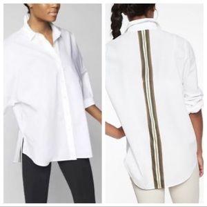 Athleta Marinwood Stripe Shirt in White Medium
